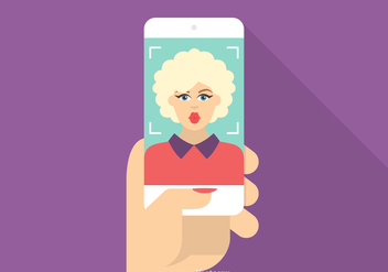 Free Vector Taking Selfie Illustration - бесплатный vector #420405