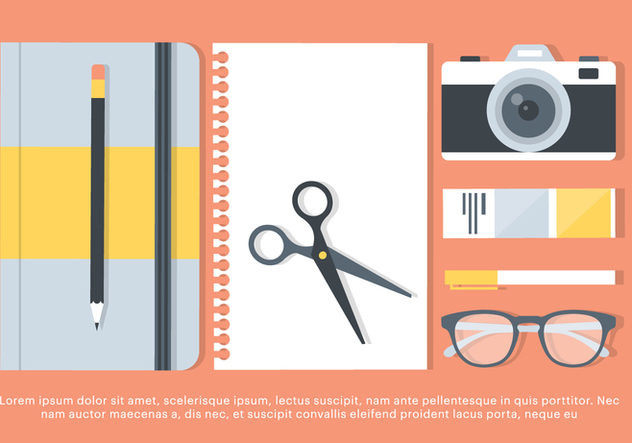 Free Flat Workstation Vector Elements - Free vector #420475