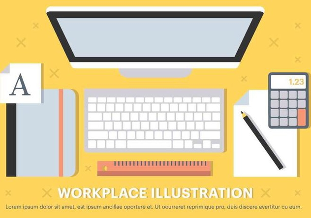 Free Vector Workplace Elements - Free vector #420565