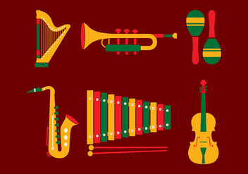 Music Set Free Vector - vector gratuit #420625