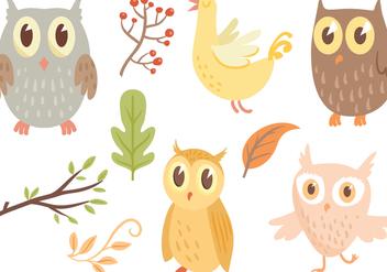 Free Owl Vectors - Free vector #420725