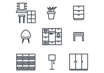 Dressing Room Icon Set - vector #420735 gratis