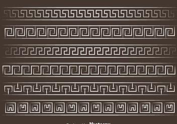 White Greek Key Vector - Kostenloses vector #420755