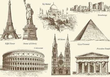 Old Style Monuments Vector - бесплатный vector #420885