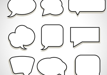 Message Chat Bubble Vectors - Free vector #420945