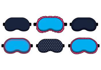 Blue Sleep Mask Vectors - Free vector #420955