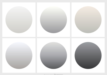 Shades Of Grey Gradient Vector Set - vector gratuit #420995