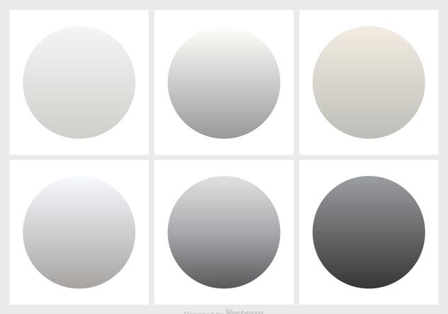 Shades Of Grey Gradient Vector Set - бесплатный vector #420995