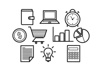 Free Line Icons Business Vector - Free vector #421065