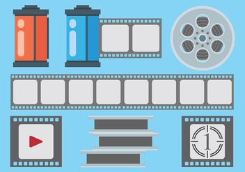 Free Film Canister Icons Vector - Kostenloses vector #421085
