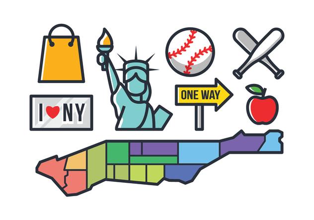 New York Icons - бесплатный vector #421095