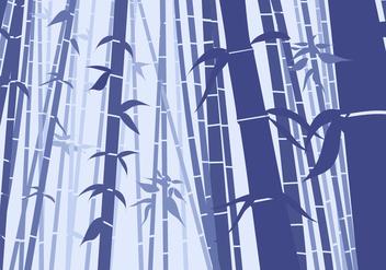 Bamboo Scene Flat Style - Free vector #421135