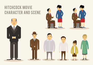 Hitchcock Movie Vector - Free vector #421215