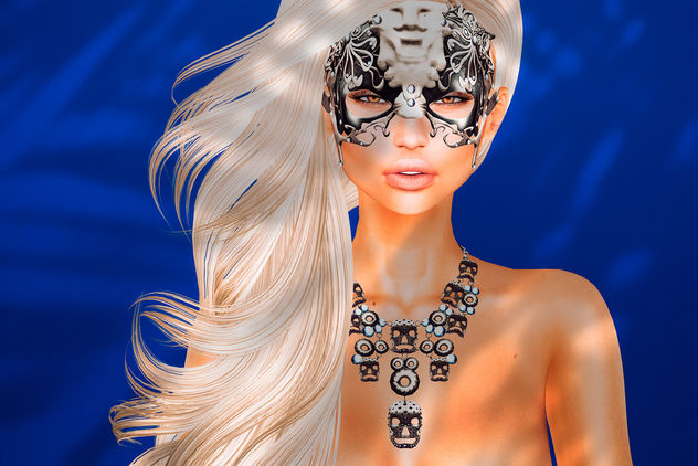 Glamor mask & necklace by sYs @ BishBox - image gratuit #421235
