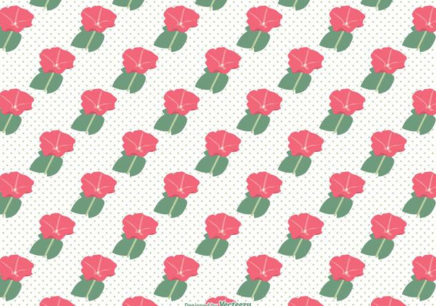 Petunia Seamless Vector Pattern - Free vector #421275