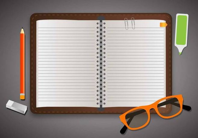Block Notes School Element - Kostenloses vector #421395