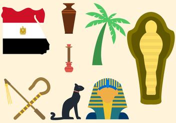 Flat Egypt Vectors - Free vector #421405