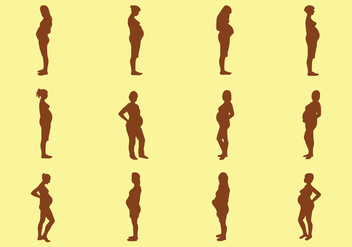 Pregnant Woman Silhouette - Free vector #421415