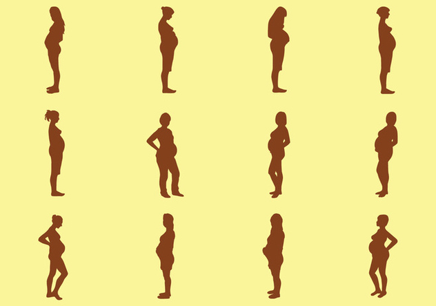 Pregnant Woman Silhouette - Kostenloses vector #421415