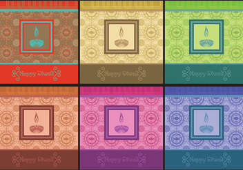 Diwali Invitation Vectors - Free vector #421525