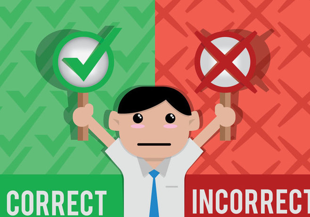 Correct Incorrect Vector - Kostenloses vector #421535