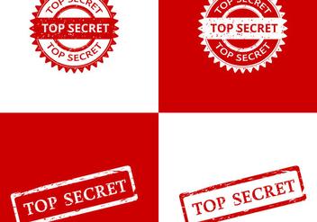 Top Secret Stamp Vectors - Kostenloses vector #421545