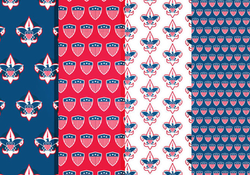 Eagle Scout Vector Patterns - Free vector #421555