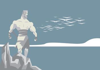 Hercules Statue Vector - vector gratuit #421685