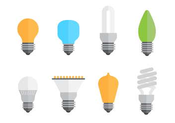 Free Set of Bulbs Vector - бесплатный vector #421725
