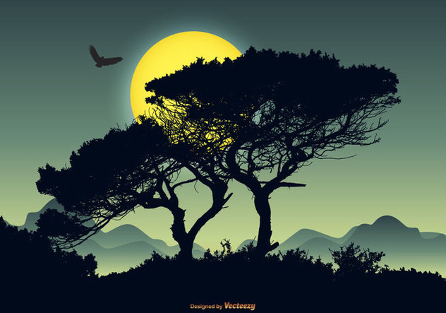 Beautiful Vector Landscape Scene - Free vector #421765