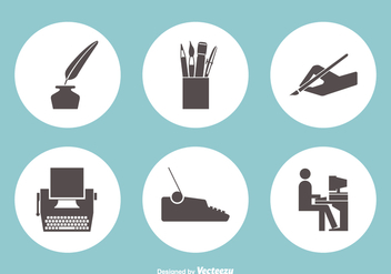 Writing Vector Icons - Free vector #421775