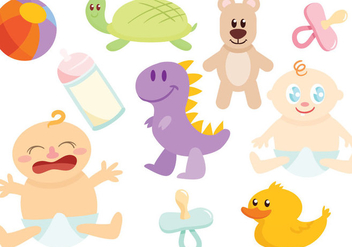 Free Baby's Toys Vectors - Free vector #421925