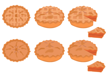 Apple Pie Vector Set - Free vector #421955