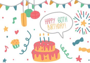 Birthday Doodle - Kostenloses vector #422075