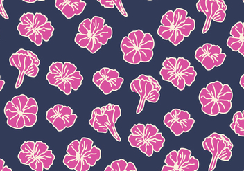 Blue And Pink Petunia Pattern - vector gratuit #422085