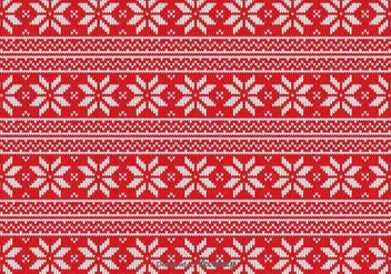 Red Christmas Fabric Vector Pattern - Free vector #422105