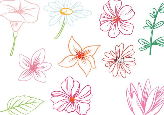Free Flowers Vectors - Free vector #422125