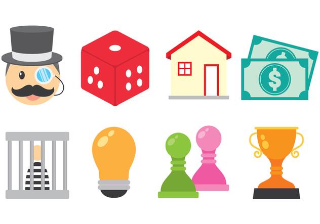 Bright Monopoly Icon Vectors - Free vector #422395