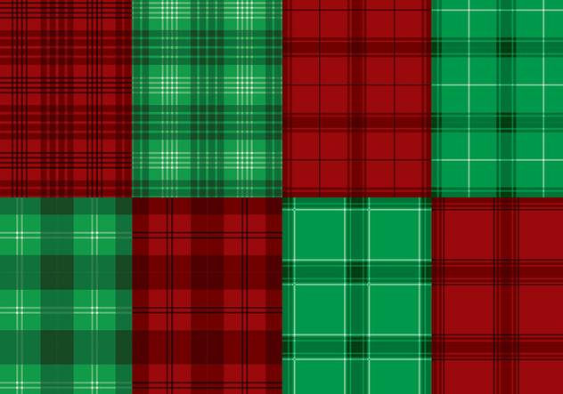 Flannel Red Green Texture Vector - Free vector #422455