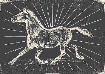 Vintage Horse Illustration - Free vector #422495