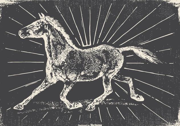 Vintage Horse Illustration - vector #422495 gratis