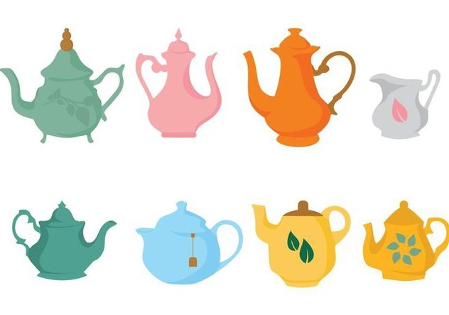 Free Different Teapot Icons Vector - Free vector #422565