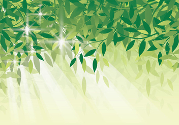 Fresh Green Leaf Background - Free vector #422835