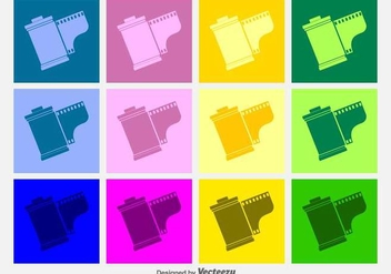 Film Canister Vector Icons - Free vector #422865