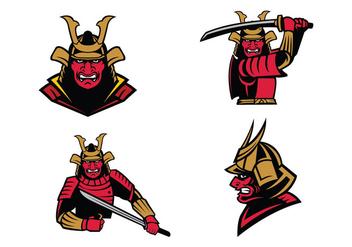 Free Samurai Warrior Mascot Vector - бесплатный vector #422935