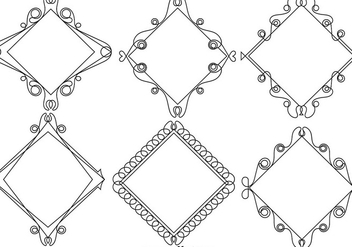Ornamental Line Style Frames - Vector - Free vector #422995