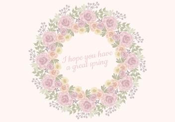 Vector Watercolor Roses Wreath - Kostenloses vector #423335