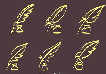 Sketch Inkwell Vectors - Kostenloses vector #423345