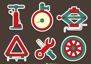 Car Repair Tools Vectors - Free vector #423355