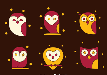 SImpke Owl Collection Vectors - Free vector #423365
